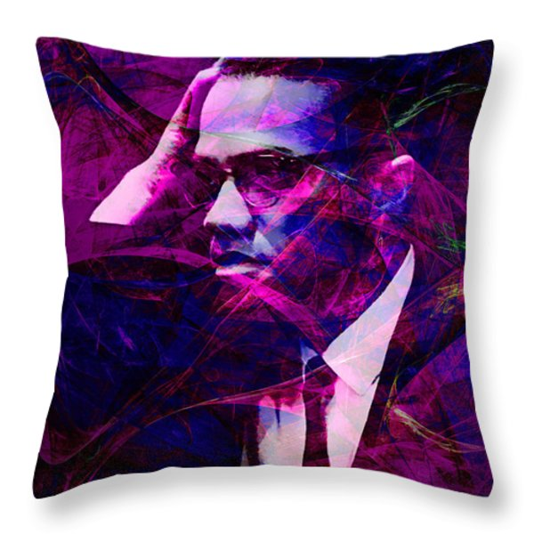 Malcolm X 20140105m88 Throw Pillow by Wingsdomain Art and Photography
