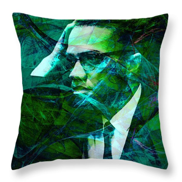 Malcolm X 20140105p138 Throw Pillow by Wingsdomain Art and Photography