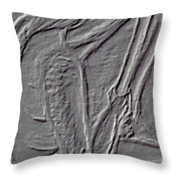Male Life Figure Throw Pillow by M and L Creations