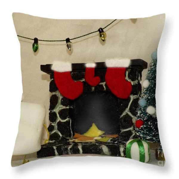 Mallow Christmas Throw Pillow by Heather Applegate