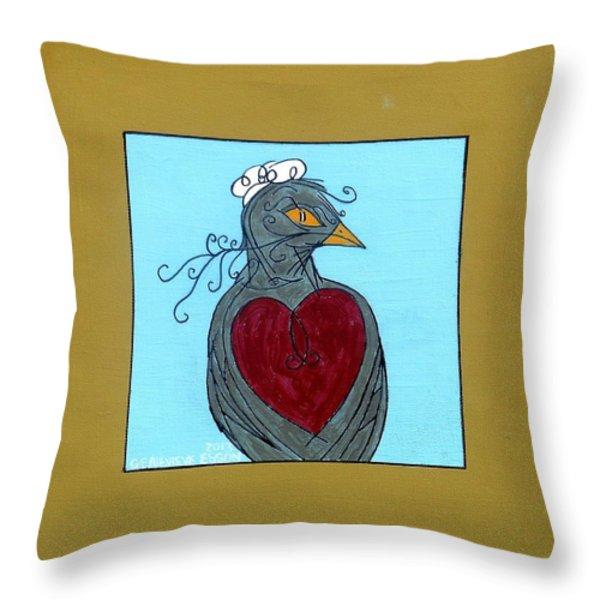 Mama Bird Throw Pillow by Genevieve Esson