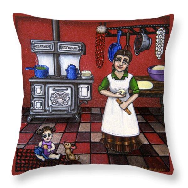 Mamacita Throw Pillow by Victoria De Almeida