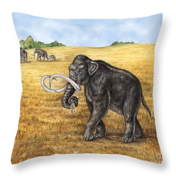 Mammoth Throw Pillow by Laurie OKeefe