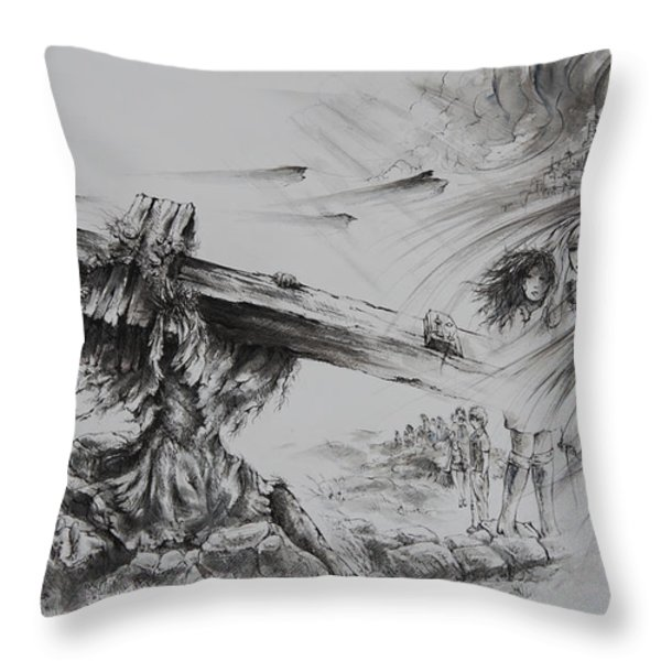 Man of Sorrows Throw Pillow by Rachel Christine Nowicki