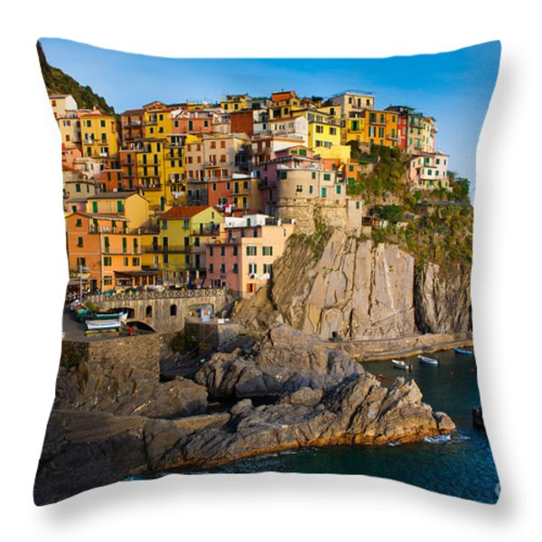 Manarola Throw Pillow by Inge Johnsson