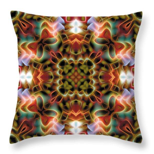 Mandala 120 Throw Pillow by Terry Reynoldson