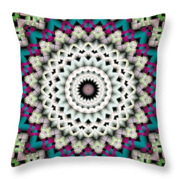 Mandala 36 Throw Pillow by Terry Reynoldson