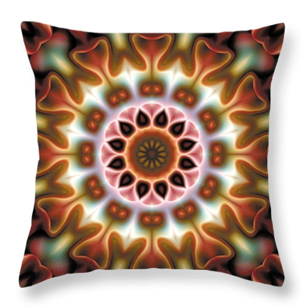 Mandala 67 Throw Pillow by Terry Reynoldson