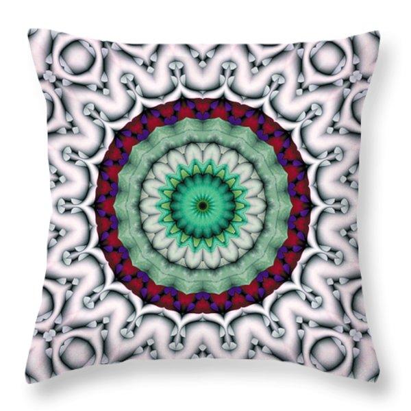 Mandala 9 Throw Pillow by Terry Reynoldson