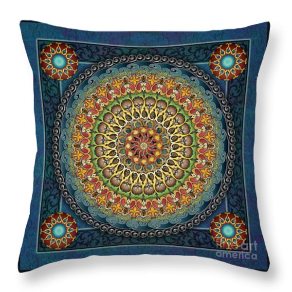Mandala Fantasia Throw Pillow by Bedros Awak