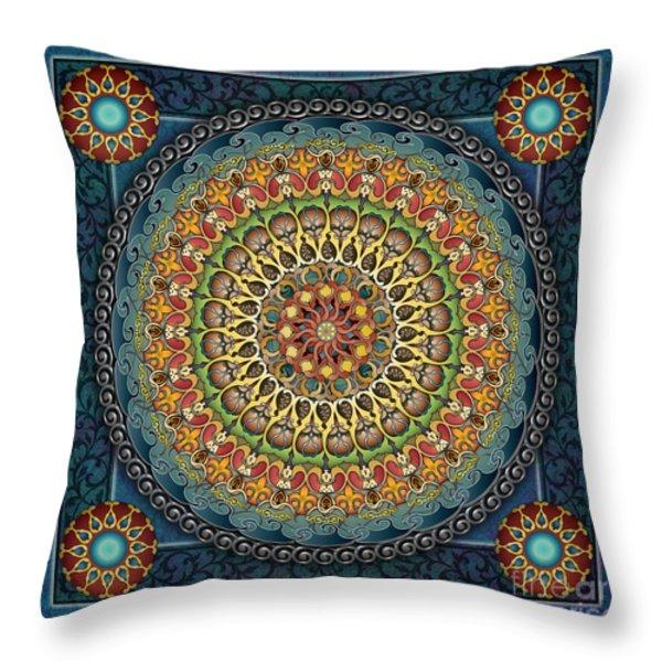 Mandala Fantasia Throw Pillow by Bedros Awak