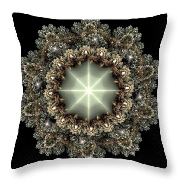 Mandala Throw Pillow by Svetlana Nikolova