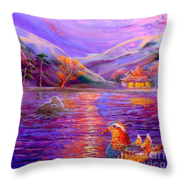 Mandarin Dream Throw Pillow by Jane Small
