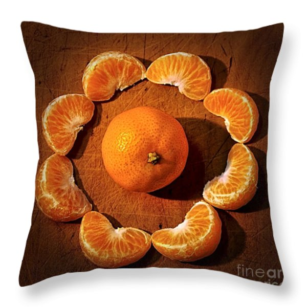 Mandarin - Vignette Throw Pillow by Kaye Menner