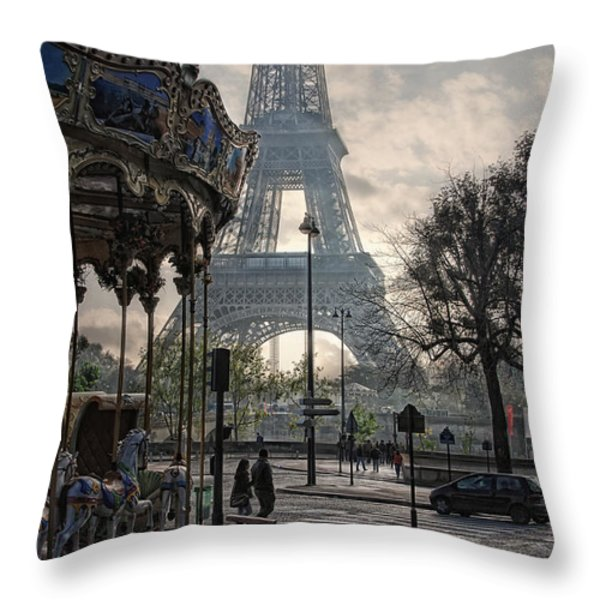 Manege Parisienne Throw Pillow by Joachim G Pinkawa