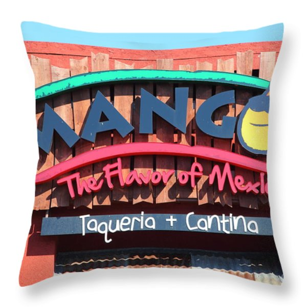 Mangos Restaurant At San Francisco California 5d26091 Throw Pillow by Wingsdomain Art and Photography
