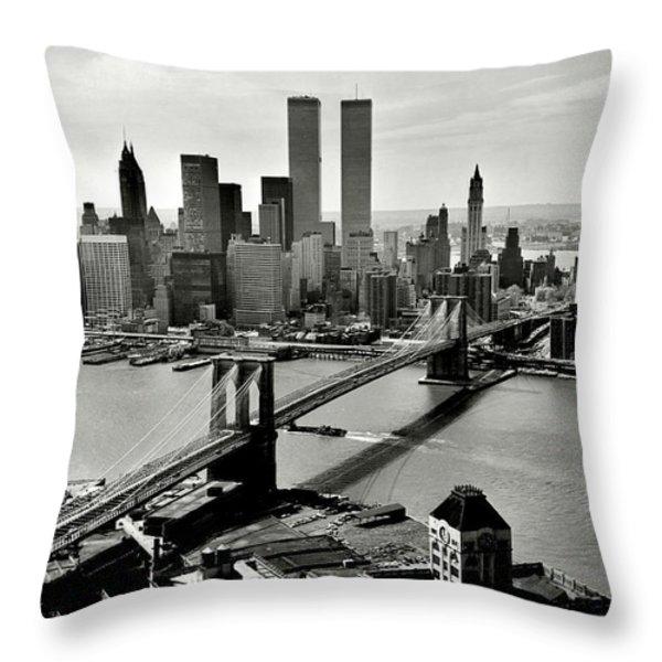 Manhattan 1978 Throw Pillow by Benjamin Yeager