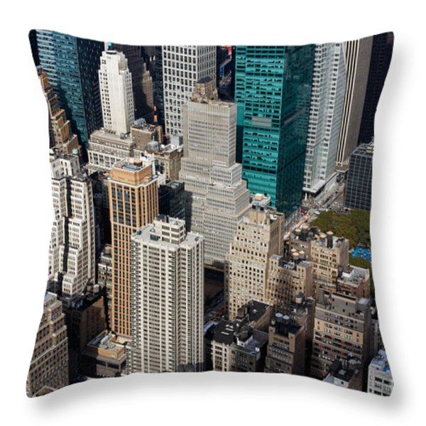 Manhattan Bryant Park Throw Pillow by Jannis Werner