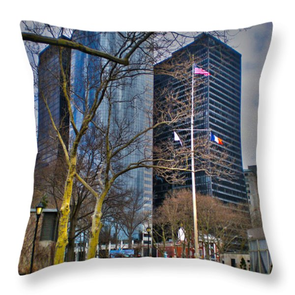 Manhattan Throw Pillow by Claudia Mottram