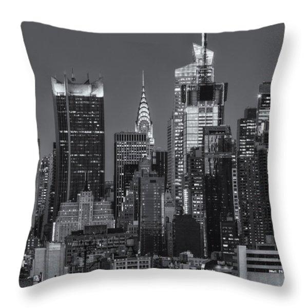Manhattan Twilight IX Throw Pillow by Clarence Holmes