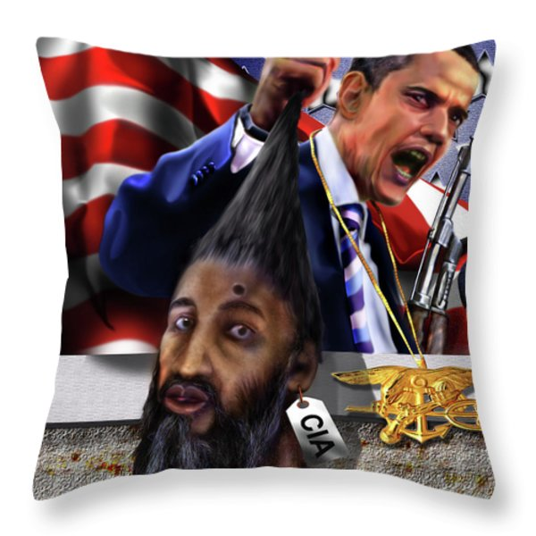Manifestation Of Frustration - I Am Commander In Chief - Period - On My Watch - Me And My Boys 1-2 Throw Pillow by Reggie Duffie