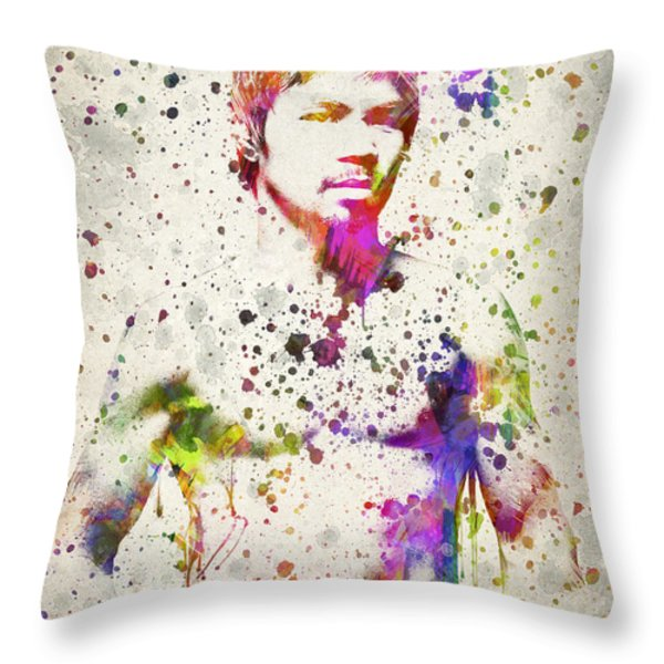 Manny Pacquiao Throw Pillow by Aged Pixel