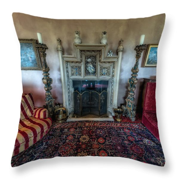 Mansion Sitting Room Throw Pillow by Adrian Evans