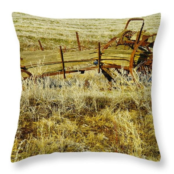 Manure Spreader Throw Pillow by Jeff Swan