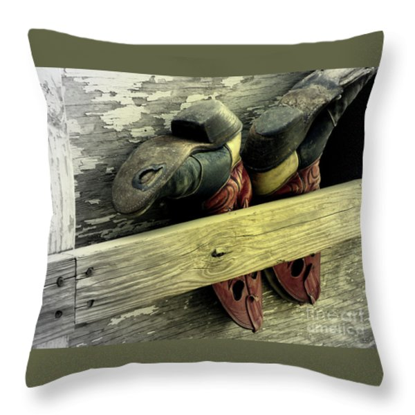 Many Miles Throw Pillow by Joe Jake Pratt