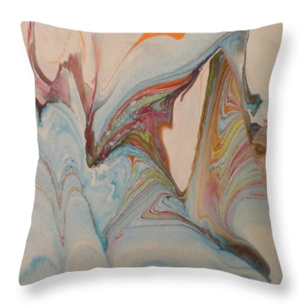 Marble 24 Throw Pillow by Mike Breau