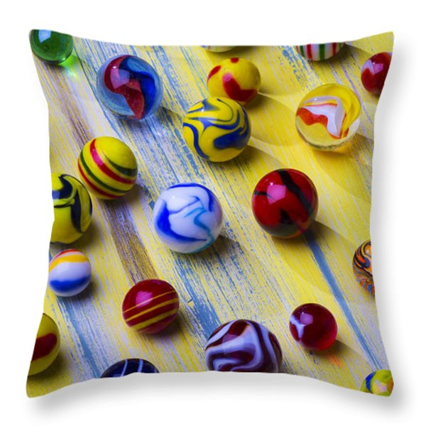 Marble Still Life Throw Pillow by Garry Gay
