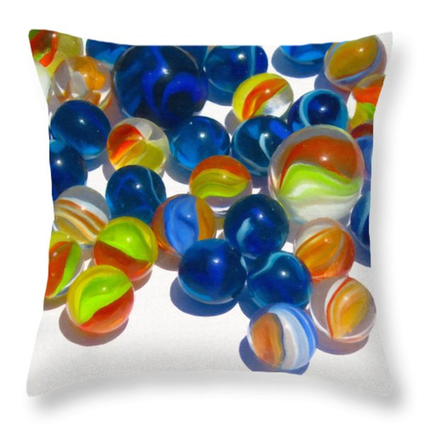Marbles Throw Pillow by Dale Jackson