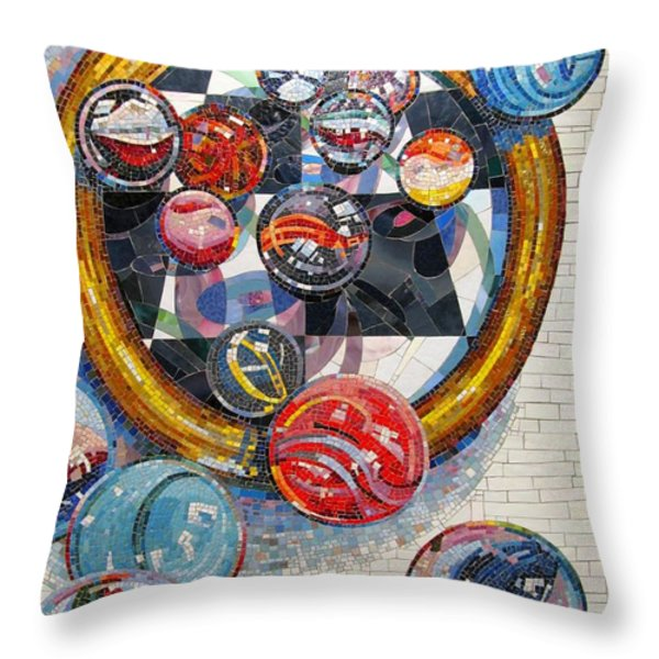 MARBLES Game  Throw Pillow by Dan Haraga