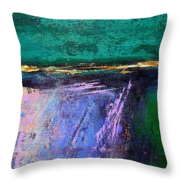 March Crossing Throw Pillow by Jim Whalen