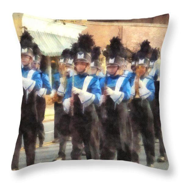 Marching Band Throw Pillow by Susan Savad