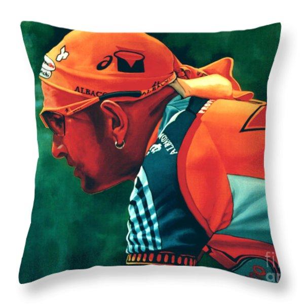 Marco Pantani 2 Throw Pillow by Paul  Meijering