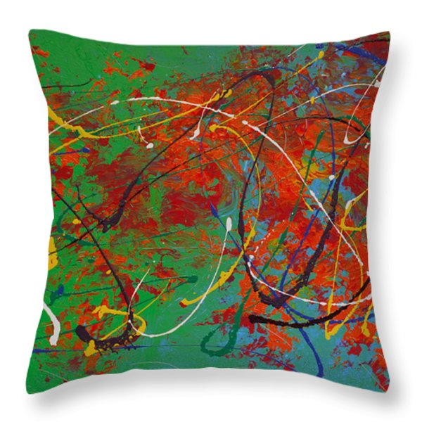 Mardi Gras Throw Pillow by Donna Blackhall