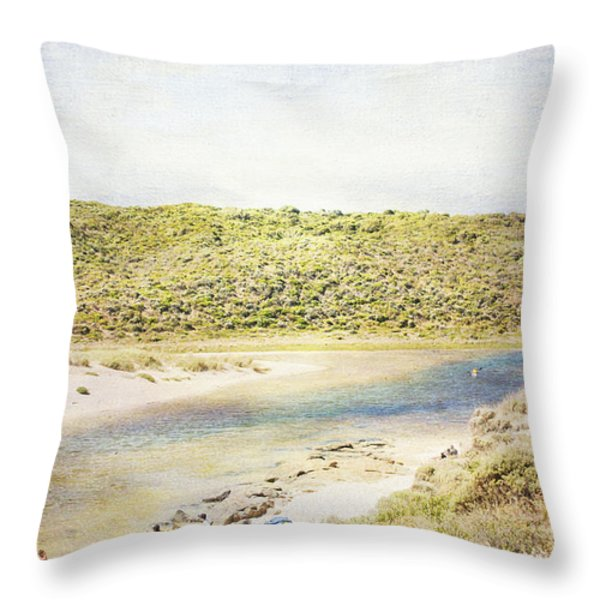 Margaret Rivermouth In Western Australia Throw Pillow by Elaine Teague
