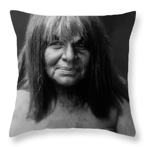 Maricopa Indian Women Circa 1907 Throw Pillow by Aged Pixel