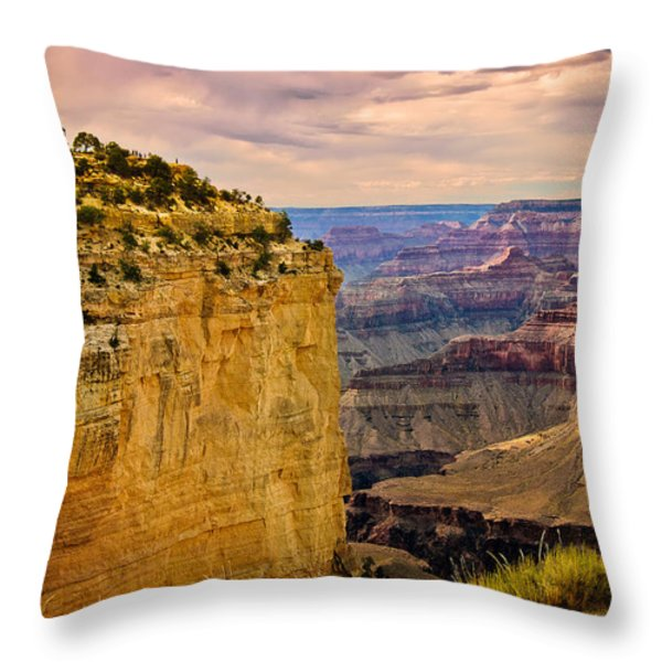 Maricopa Point Grand Canyon Throw Pillow by  Bob and Nadine Johnston