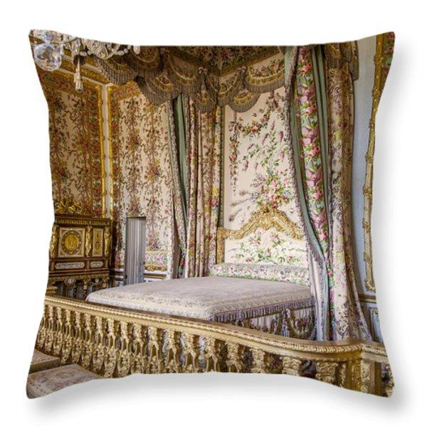 Marie Antoinette Bedroom Throw Pillow by Brian Jannsen