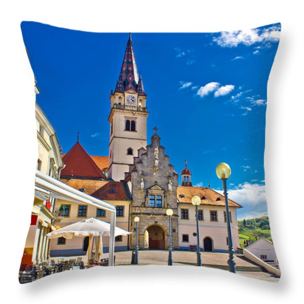 Marija Bistrica marianic sanctuary in Croatia Throw Pillow by Dalibor Brlek