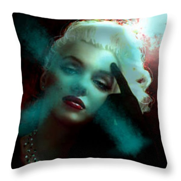 Marilyn 128 Tryp  Throw Pillow by Theo Danella