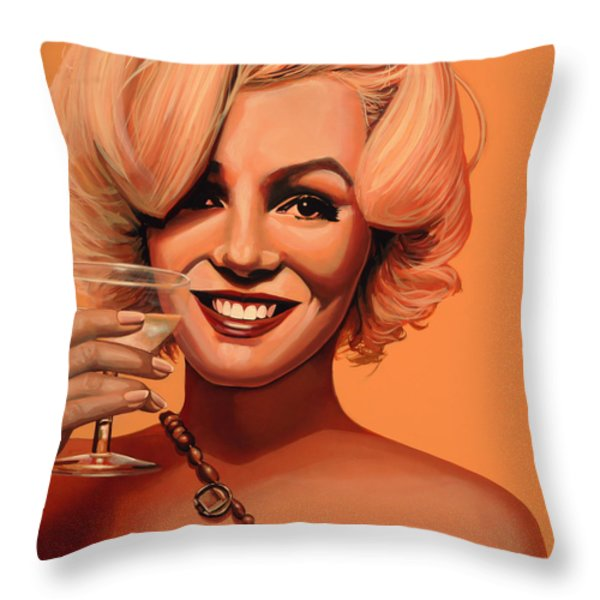 Marilyn Monroe 5 Throw Pillow by Paul  Meijering