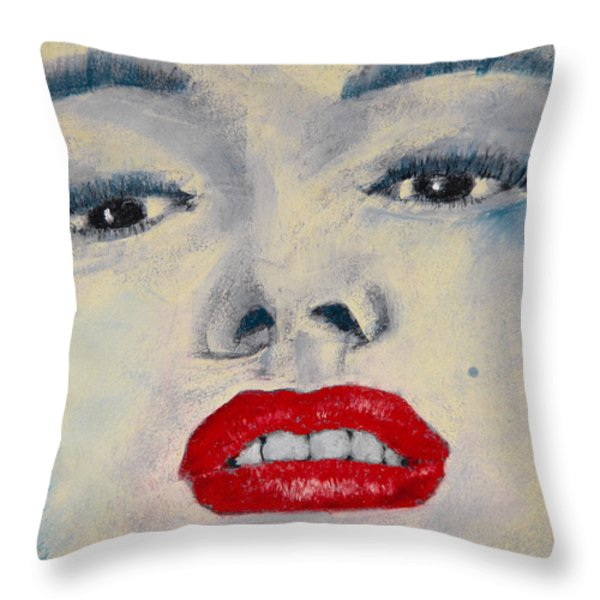 Marilyn Monroe Throw Pillow by David Patterson