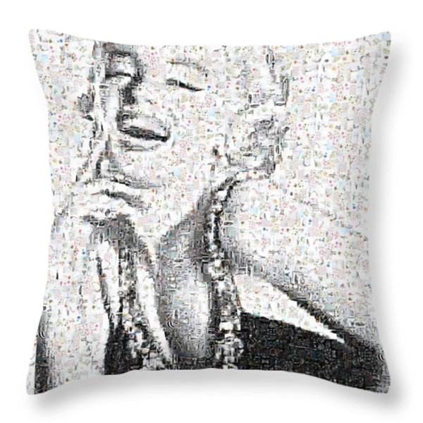 Marilyn Monroe In Mosaic Throw Pillow by Angela A Stanton
