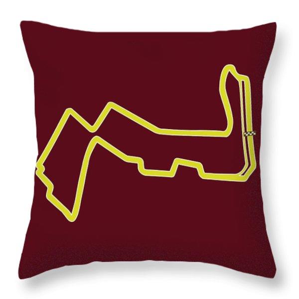 Marina Bay Circuit Throw Pillow by Mark Rogan