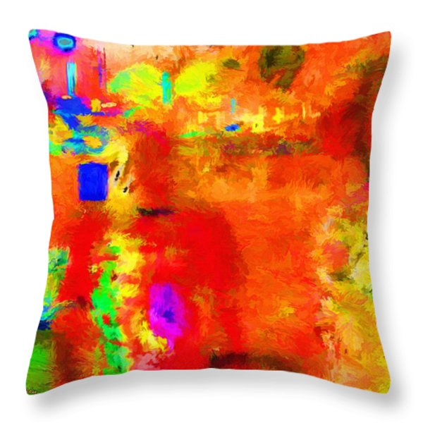 Marina Night Throw Pillow by Chuck Staley