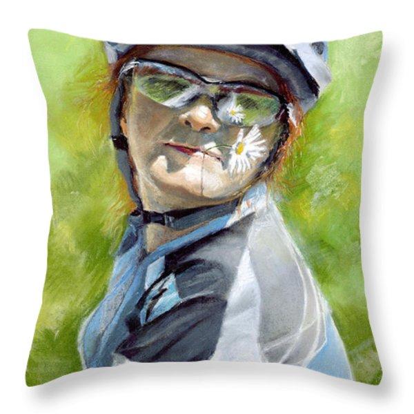 Marina Throw Pillow by Yuriy Shevchuk