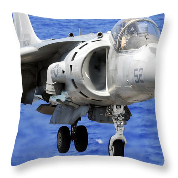 Marine Corps Harrier Throw Pillow by Mountain Dreams